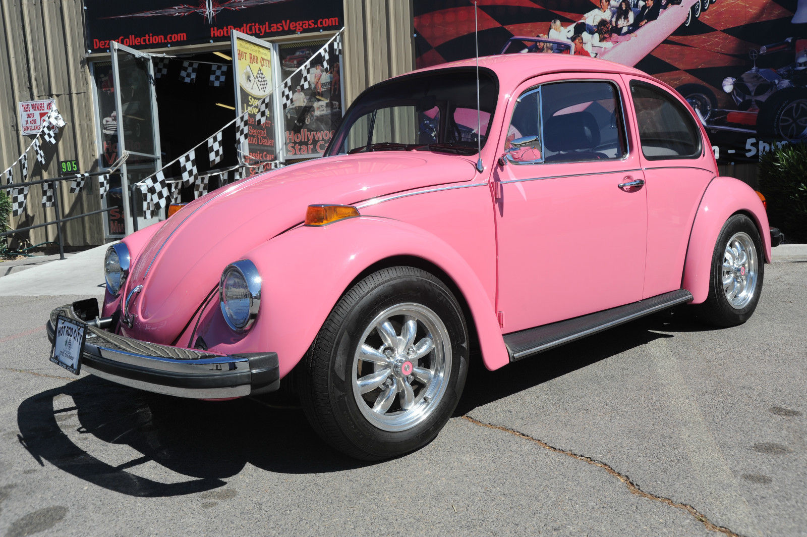 1977 pink volkswagen beetle showcar for sale. Black Bedroom Furniture Sets. Home Design Ideas