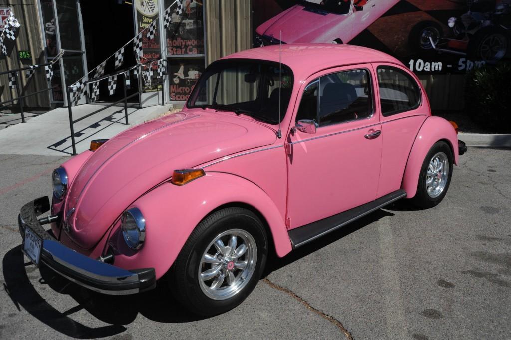 1977 pink volkswagen beetle showcar for sale. Black Bedroom Furniture Sets. Home Design Ideas