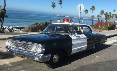 1964 ford galaxy california police car complete restoration for sale. Black Bedroom Furniture Sets. Home Design Ideas