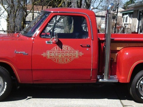 1979 Dodge Pickups D150 Adventurer Lil Red Express Truck for sale