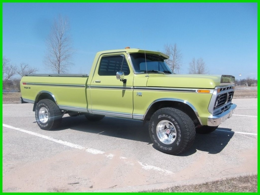 1975 ford f 100 ranger xlt 390 v8 4wd pickup truck for sale. Black Bedroom Furniture Sets. Home Design Ideas